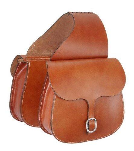Dark Oil Plain Tough 1 Tough-1 Leather Saddle Bag