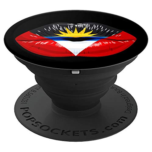 (Antiguan Pride Lips! Kissable Antigua Lips - PopSockets Grip and Stand for Phones and Tablets )