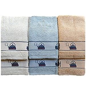 PURALGO. puro algodón - Lote de 6 paños de cocina, ref. kitchen