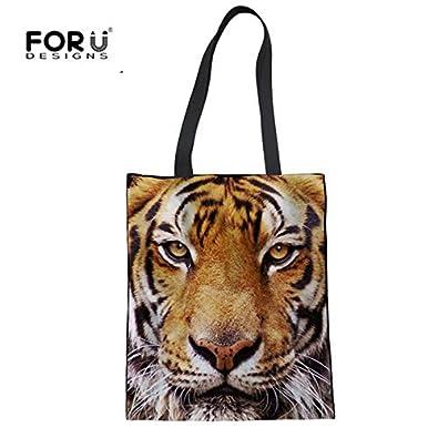 Amazon.com: FORUDESIGNS Fashion Mom Animal Dog Summer Beach Bags Cute Yorkshire Print Eco Shopping Handbags for Women Linen Tote Bag Bolsa Color 3122Z22: ...