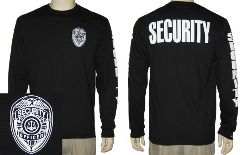 Amazon.com: Security Officer Long Sleeve T-shirt (Black): Clothing