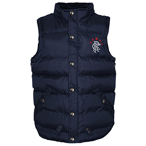 Rangers FC Official Soccer Gift Mens Padded Body Warmer Gilet XL by Rangers F.C.