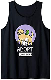 Adopt Don't Shop  | Animal Rescue Tank Top T-shirt | Size S - 5XL