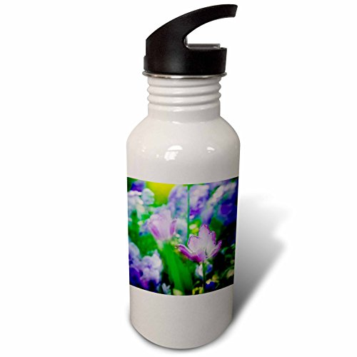 3dRose Danita Delimont - Flowers - Delicate tulips in home gardens, Giverny, France - Flip Straw 21oz Water Bottle (Giverny Photo)