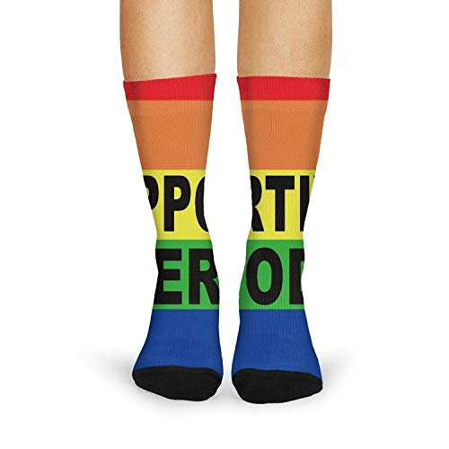XIdan-die Womens Over-the-Calf Tube Socks Gay Supportive Period Moisture Wicking Casual Socks