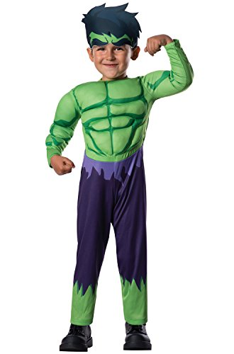 Cool Book Characters To Dress Up As (Rubie's Marvel Super Hero Adventure's Muscle Chest Costume, Hulk,)