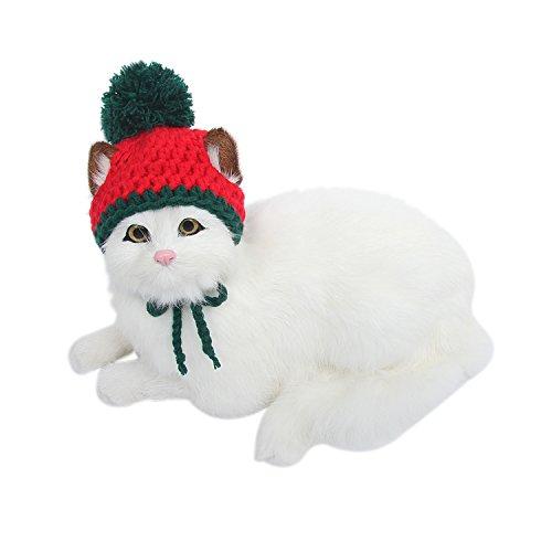 HBuir Handmade DIY Pet Dog Santa Hat Christmas Gifts for Cat