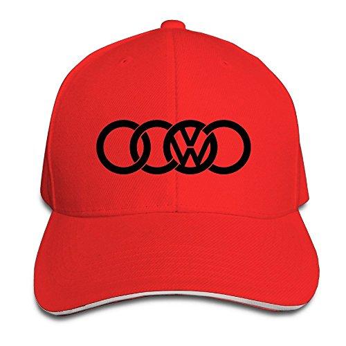 Logo Sandwich - MaNeg Audi&Volkswagen Logo Sandwich Peaked Hat & Cap