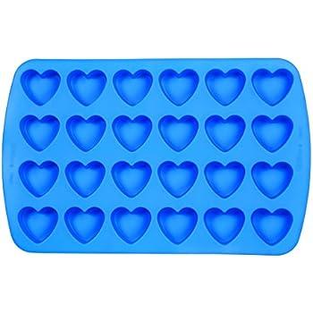 Wilton 2105-4909 Easy Flex Heart 24-Cavity Silicone Mold