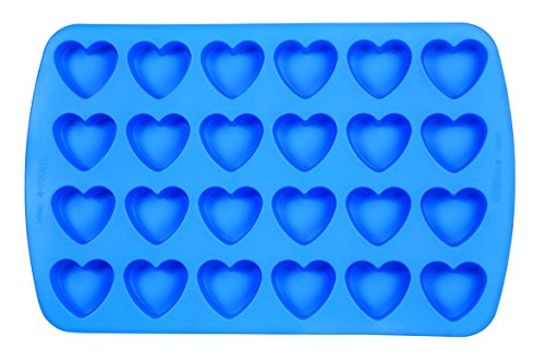 Wilton 2105-4909 Easy Flex Heart 24-Cavity Silicone Mold (Heart Cupcake Pan compare prices)