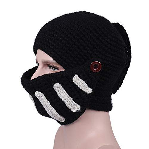(Valentine's Best Gifts!!! Jumberri Roman Gladiator Knight Manual Knit Hat Winter Unisex Warm Fashion Casual Mask)