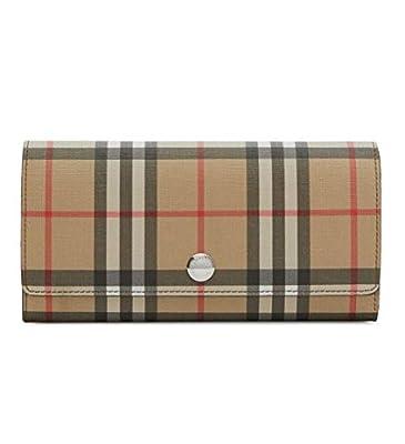 Burberry Vintage Check E-canvas Continental Wallet Malt Brown 8015342