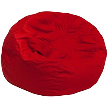 Amazon Com Flash Furniture Small Solid Red Kids Bean Bag
