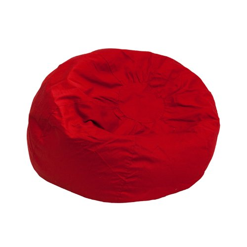 Flash Furniture Small Solid Red Kids Bean Bag Chair Bean Bag Red Twill