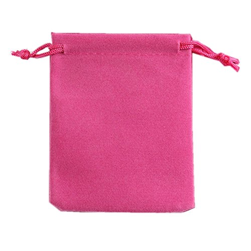 "Generic 50 Pieces Wholesale Lot - Black Velvet Cloth Jewelry Pouches/Drawstring Bags 3"" X 4"" (50, Pink) from Ximkee"