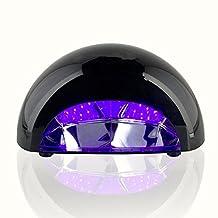 [Upgraded Version] FLYMEI 12W Violetili Nail Dryer Blower LED Lamp Light with Timer Setting for Acrylic, CND Shellac, Soak Off, Harmony Gelish, IBD etc. - Black
