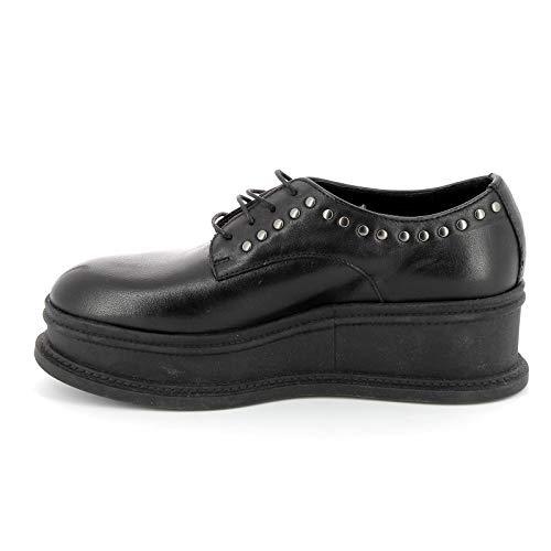 By Stringate Donna Alesya Alte Scarpe Negro amp;scarpe HSx6qxdwWg