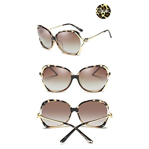 Soleil Big White de de Color Soleil Lunettes Grain TangMengYun Frame Leopard Polarisées de Off Lunettes Rhinestones Conduite Fashion qIAZE