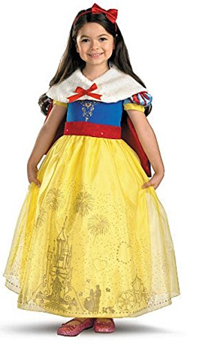 [Disney Princess Storybook Prestige Snow White Halloween Costume with Stole-=] (Halloween Storybook Costumes)