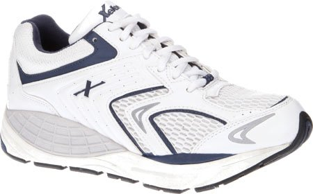 Xelero Matrix Men's Comfort Therapeutic Extra Depth Sneaker Shoe Leather/Mesh Lace-up B00SVZY4KS 13 2E US|White/Navy Mesh