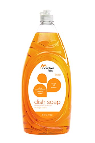 Mountain Falls Ultra Concentrated Dish Soap and Antibacterial Handsoap, Orange Scent, Compare to Dawn, 40 Fluid Ounce (Dish Ultra Soap Concentrated)
