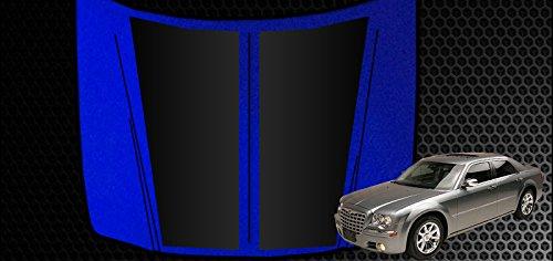 Auto Vynamics - CHR-101-MBLA - Matte Black Vinyl Hood Decal Kit - Chrysler / Dodge 300 / Magnum - Mirrored Pair - (2) Piece Complete Kit