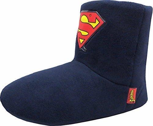 Tamaño de la funda de ante para patucos Superman botas de 7 -8 reloj para hombre calcetines de con aplicación gratuita para Batman: Amazon.es: Zapatos y ...