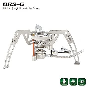 BRS 6 High Mountain Cocina de Gas Camping eléctrica Outdoor Picnic Cookout Acero Inoxidable Split Tipo