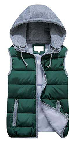 Vest Padded Jacket Outwear Removable Hooded 3 EKU Women Winter O4qwtf
