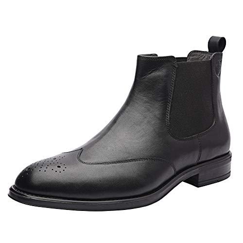 (Allonsi Gerard Men's Boots, Genuine Leather Wingtip Chelsea Boots Men, Ankle Dress Boot for Men (Black, 9M US))