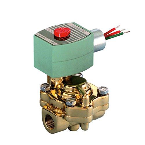 ASCO 8221G005-120/60,110/50 Brass Body Pilot Operated Slow Closing Solenoid Valve, 3/4'' Pipe Size, 2-Way Normally Closed, Nitrile Butylene Sealing, 3/4'' Orifice, 5.5 Cv Flow, 120V/60 Hz, 110V/50 Hz
