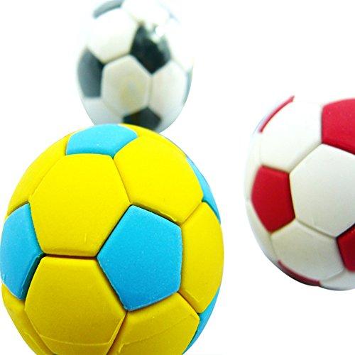 Random Color 3Pcs Football Soccer Rubber Eraser Creative Stationery School Supplies Gift Kids zsjhtc by zsjhtc (Image #3)