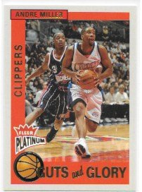 - Andre Miller 2002-03 Fleer Platinum Guts and Glory Los Angeles Clippers Insert Card #8 CG