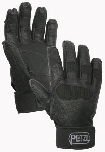 Petzl K53 CORDEX PLUS Midweight Glove, Black, Large (Plus Black Gloves)