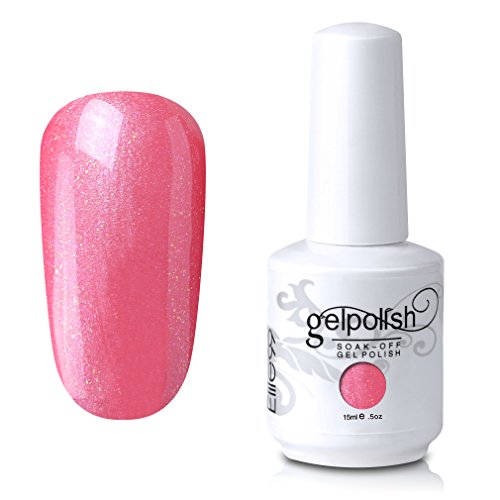 Elite99 Soak-Off UV LED Gel Polish Nail Art Manicure Lacquer Pearl Lightpink 758 15ml