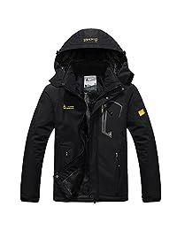 YIRUIYA Men's Fleece Jacket Winter Waterproof Warm Windproof Ski Jackets