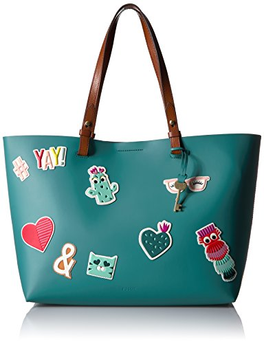 Fossil Rachel E/W Tote Bag, Teal Green Multi