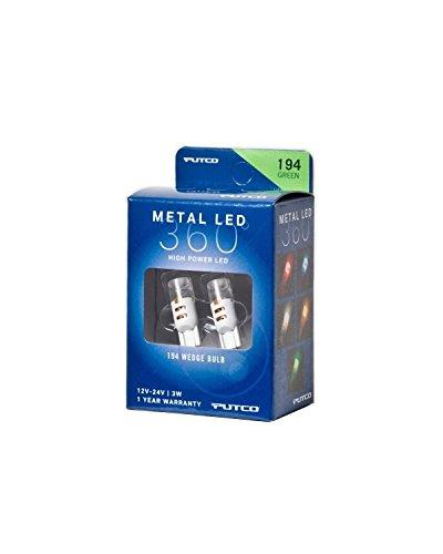 Putco Lighting 340194G-360 Metal LED 360 194 Bulb Type Green Metal LED 360