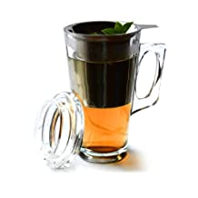AdNArt Tea Mug with Stainless Steel Infuser