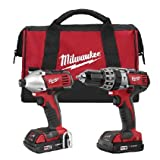 Milwaukee 2697-22CT M18 18-Volt Lithium-Ion Cordless Hammer Drill/Impact Driver Combo Kit