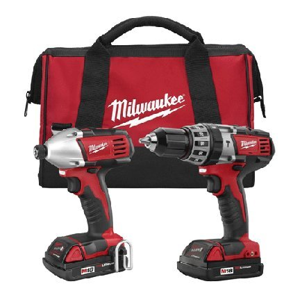 - Milwaukee 2697-22CT M18 18-Volt Lithium-Ion Cordless Hammer Drill/Impact Driver Combo Kit