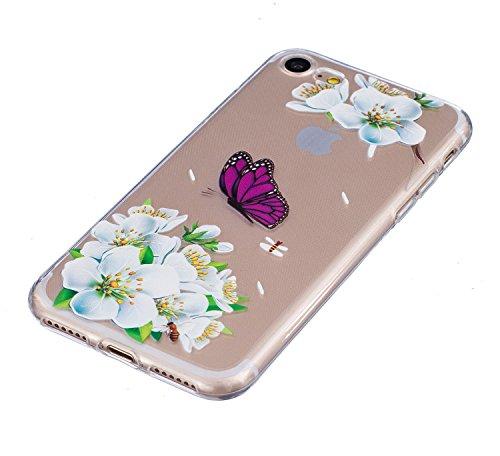 """Vanki® iPhone 7 Funda, Protectiva Carcasa de Silicona de gel TPU Transparente, Ultra delgada, Amortigua los golpes Case Cover Para iPhone 7 4.7"""" 10"""