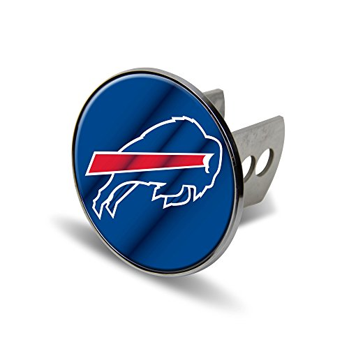 Rico NFL Buffalo Bills Laser Cut Metal Hitch Cover, Large, Silver