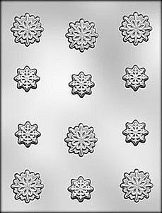 (Chocolate Mold Snowflakes 1 1/8