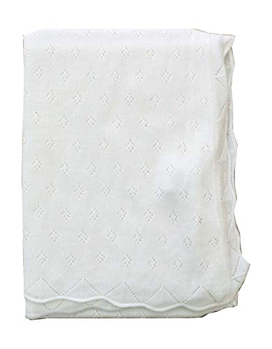 Baby Bright Shawl for Infants Made from Ultra Soft 100% Viscose Shawls for Infants and Babies Cover Babies in Infant Shawl Wrap Ideal for Gifting Infant White Shawl