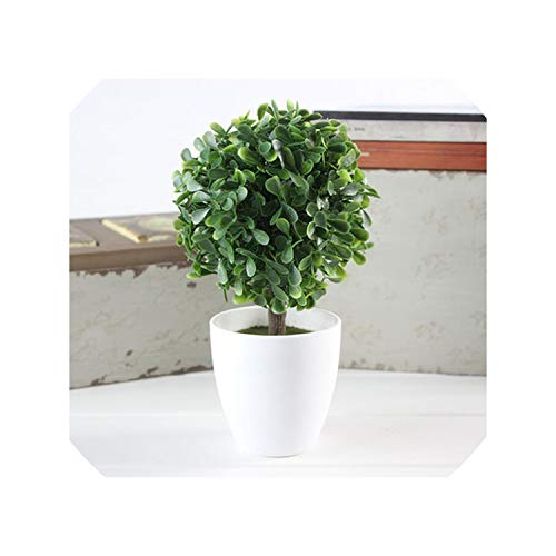 Indoor Artificial Plants with Pot Wedding Home Decoration Flower Ball Bonsai Green Plant Fake Grass Ball Outdoor Home Xmas Decor,21 -