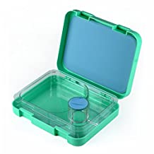 Leakproof Bento Lunch Box Kit Container for Kids 3 Compartments Meal School & Snack Pack On-the-go