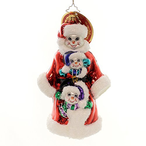 Christopher Radko Triple Delight Snowman Family Christmas Ornament