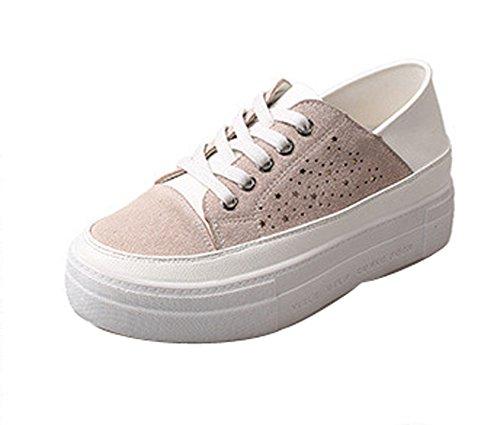 Lace Up Weight Ladola Light Platform Walking Shoes Womens Beige Suede vqtxpxIw