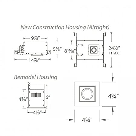 WAC Lighting Mini Multiples LED Three New Construction Housing with Trim and Light Engine MT-3LD111NA-F930WT